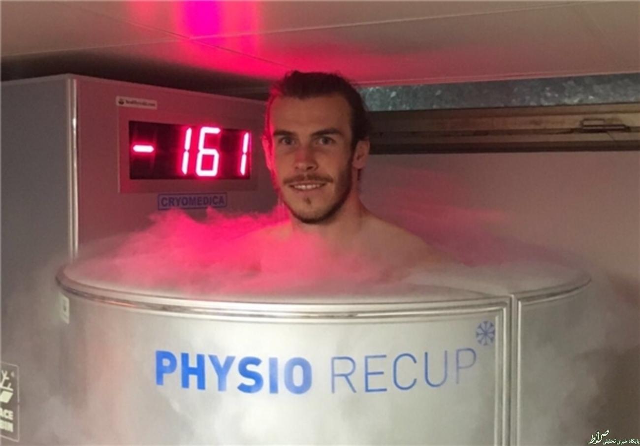 عکس/ تمرینات عجیب آقای فوتبالیست