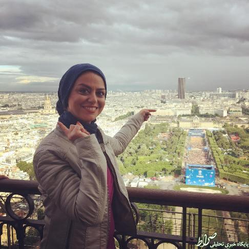 عکس/ بازیگر زن کشورمان بالای برج ایفل