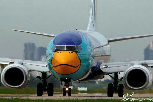 عکس/ رنگآمیزی جالب یک هواپیما در بانکوک