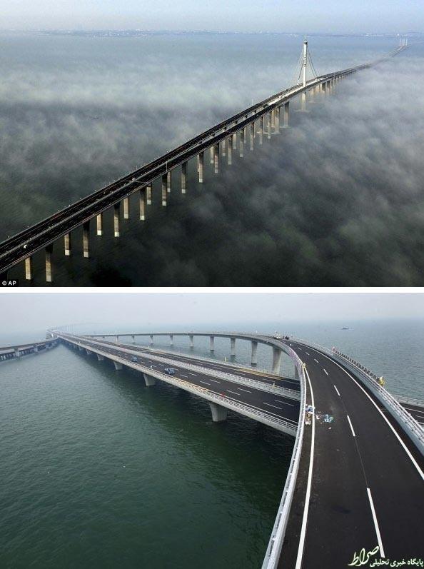 عکس/ طولانی ترین پل دریایی جهان