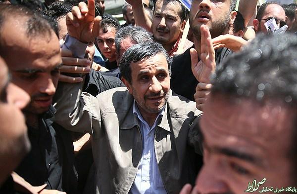 عکس/ احمدینژاد در راهپیمایی روزقدس