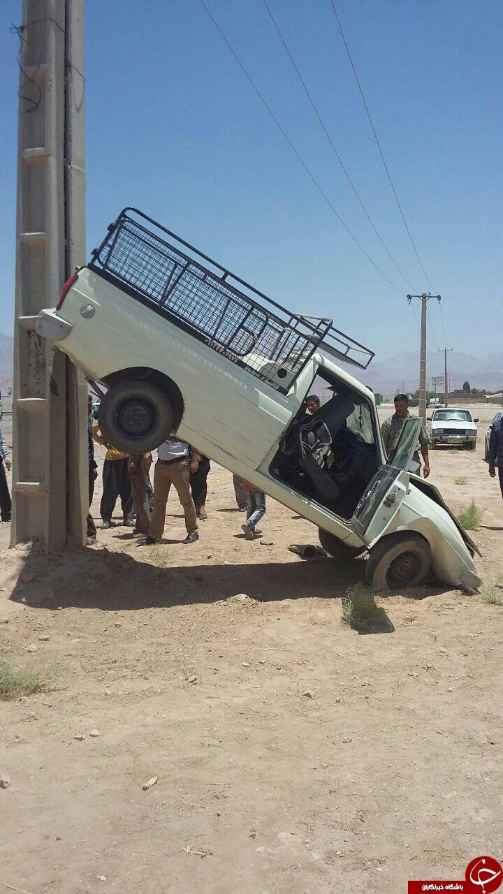 عکس/عجیبترین تصادف پیکان وانت