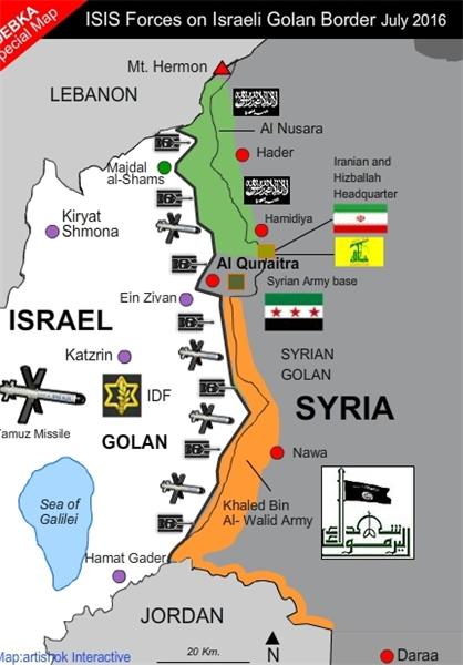 دبکا: سپاه در مرز اسراییل پایگاه دارد