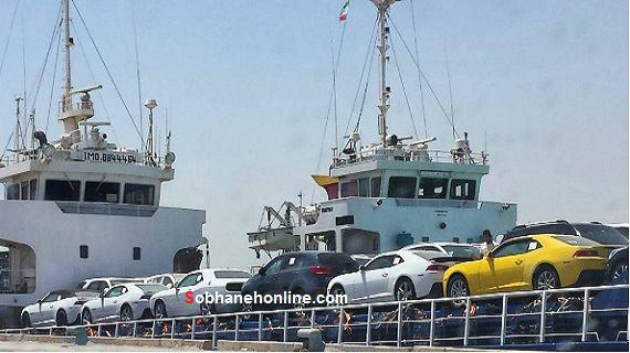 عکس/ کشتی خودروهای آمریکایی در بندر