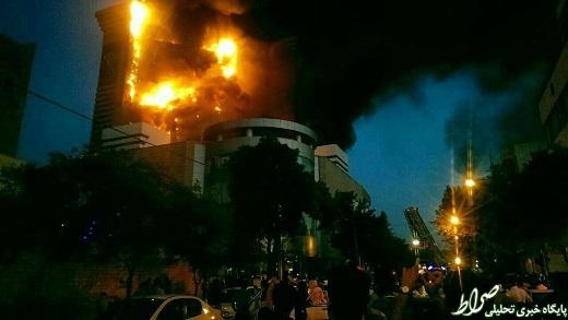 تصاویر/آتش سوزی گسترده در برج سلمان مشهد