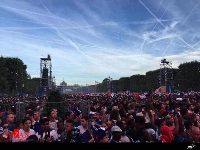 تماشای فینال یورو دورِ برج ایفل! +تصاویر
