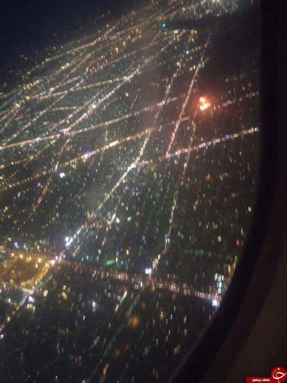 تصویری هوایی از آتش سوزی برج سلمان