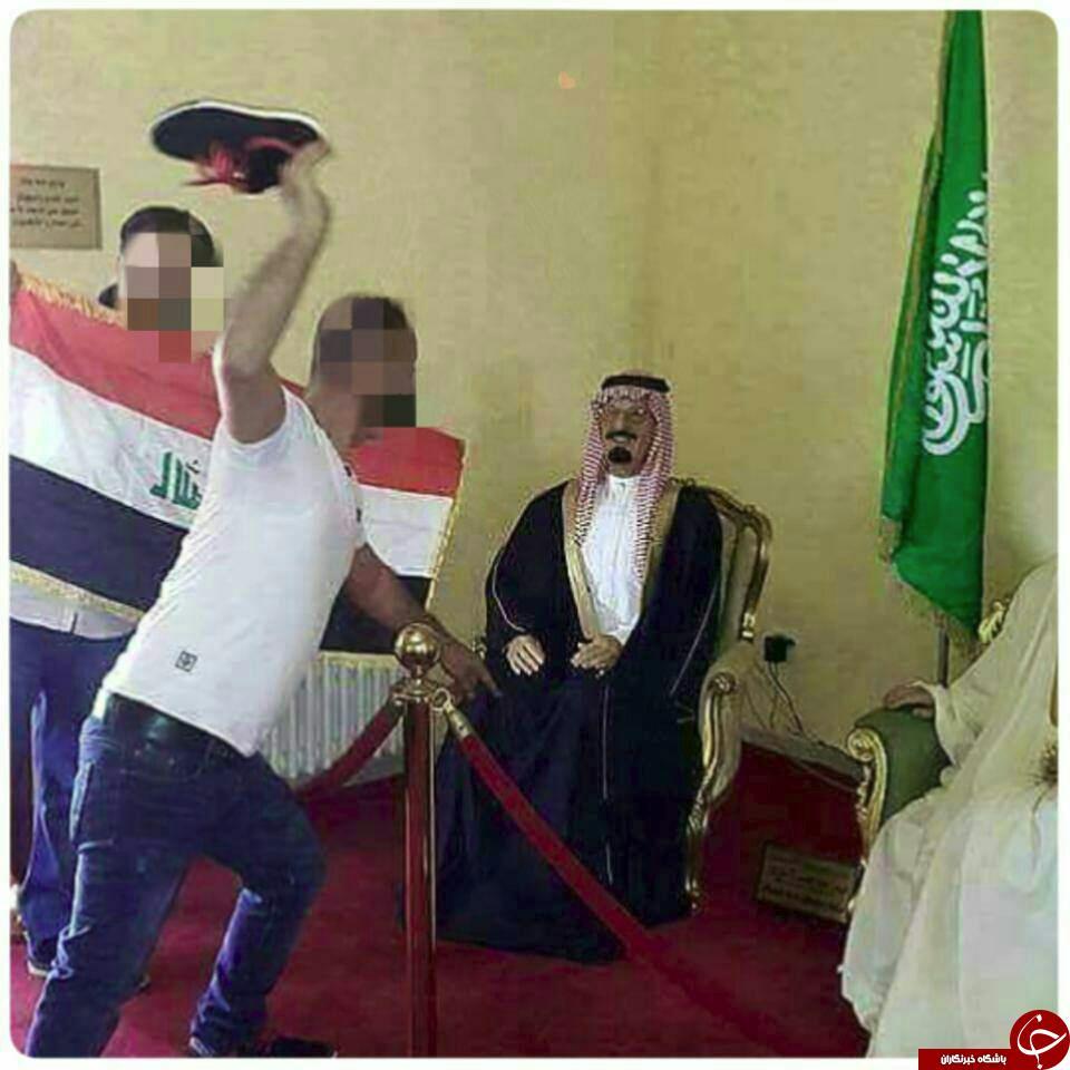 عکس/ استقبال از ملک فهد با لنگه کفش