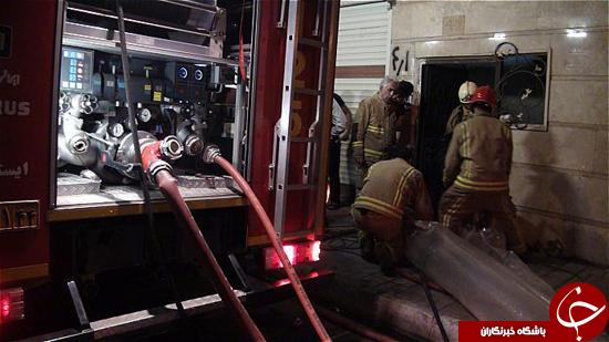 آتشسوزی ساختمان ۴طبقه درتهران +تصاویر