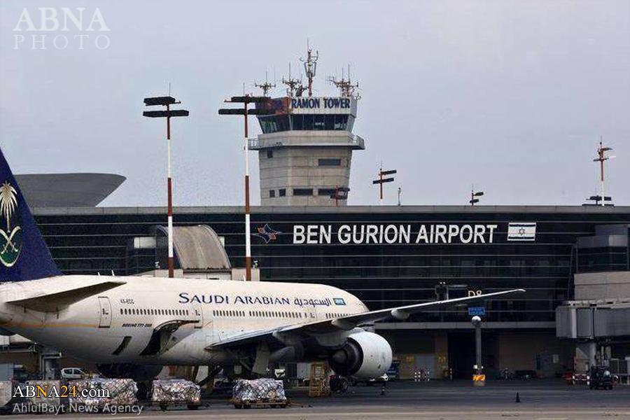 فرود هواپیمای سعودی در فرودگاه اسرائیل +عکس