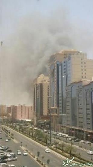 آتشسوزی بزرگ دریک هتل درمکه +عکس