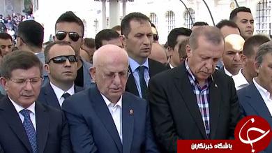 عکس/ اردوغان در تشییع کشتهشدگان کودتا