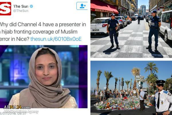 ماجرای توهین به مجری مسلمان بریتانیا +عکس