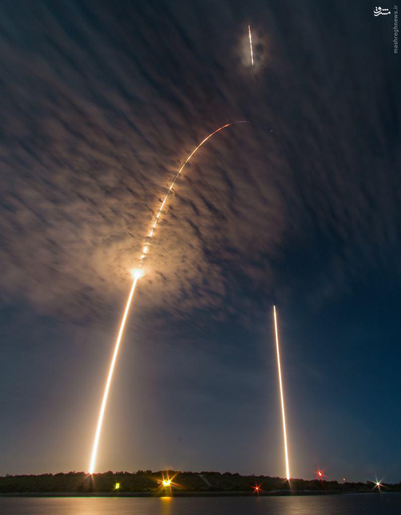 عکس دیدنی ناسا از پرتاب موشک