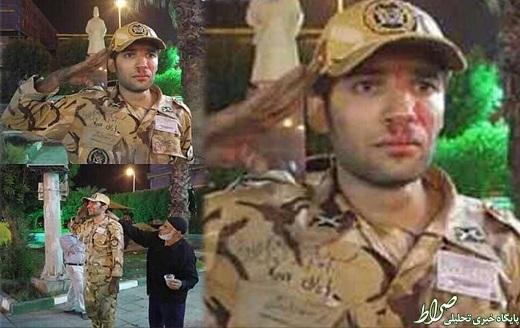 ادای احترام سرباز به یاد هم خدمتی هایش+عکس