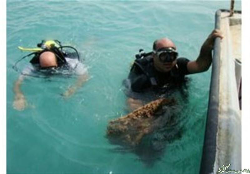 راز کشتی غرق شده تاریخی / محوطه باستانی ساسانی زیر آب + تصاویر