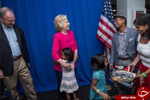 کلینتون آرزوی یک کودک را برآورده کرد! +عکس