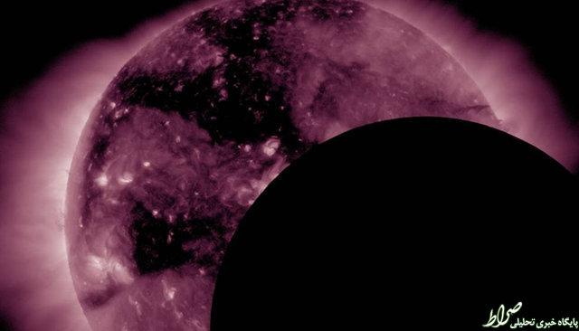 عبور ماه از برابر خورشید +عکس