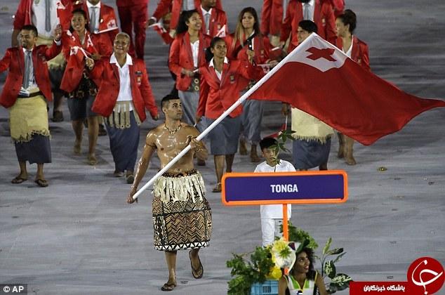تنها ورزشکار کشور تونگا چهکاره است؟ +تصاویر