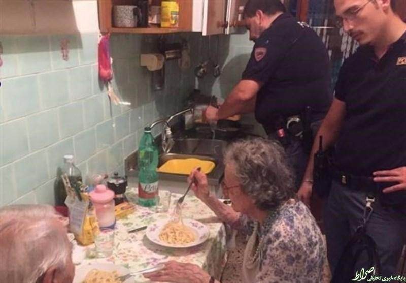 ابتکارجالب پلیس برای دلداری یک زوج+عکس