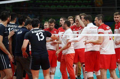 درگیری در پایان بازی والیبال ایران و لهستان در المپیک ریو 2016