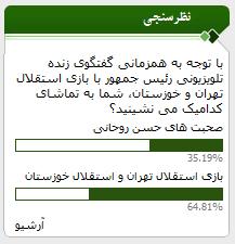 گفتوگوی تلویزیونی روحانی به بعد از بازی پرسپولیس موکول شد!