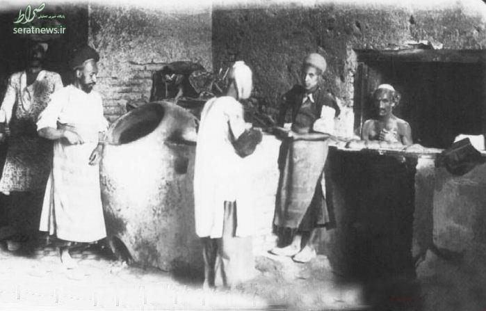 عکس/ نانوایی در زمان قاجار