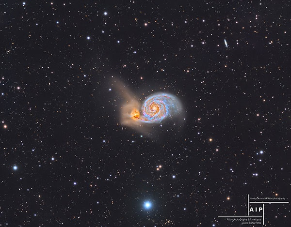 عکس خارقالعاده از کهکشان گرداب