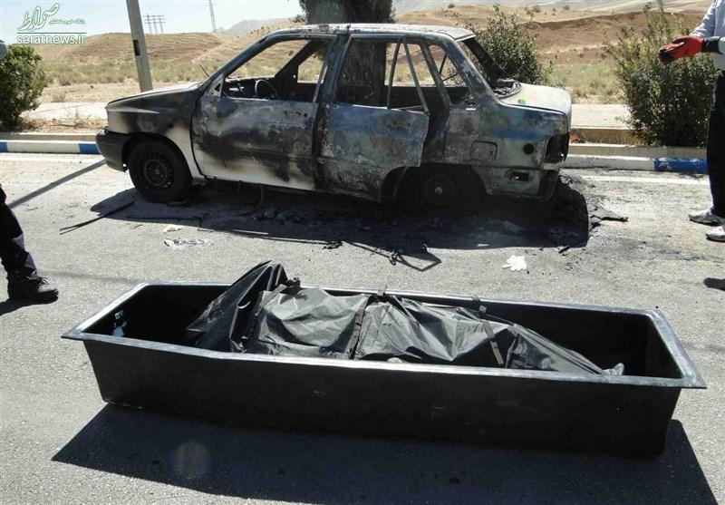 ماجرای جسد سوخته در پراید +تصاویر