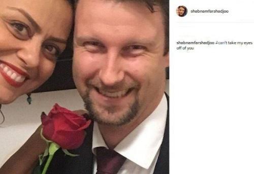 ازدواج بازیگر زن ایرانی با مرد خارجی +عکس