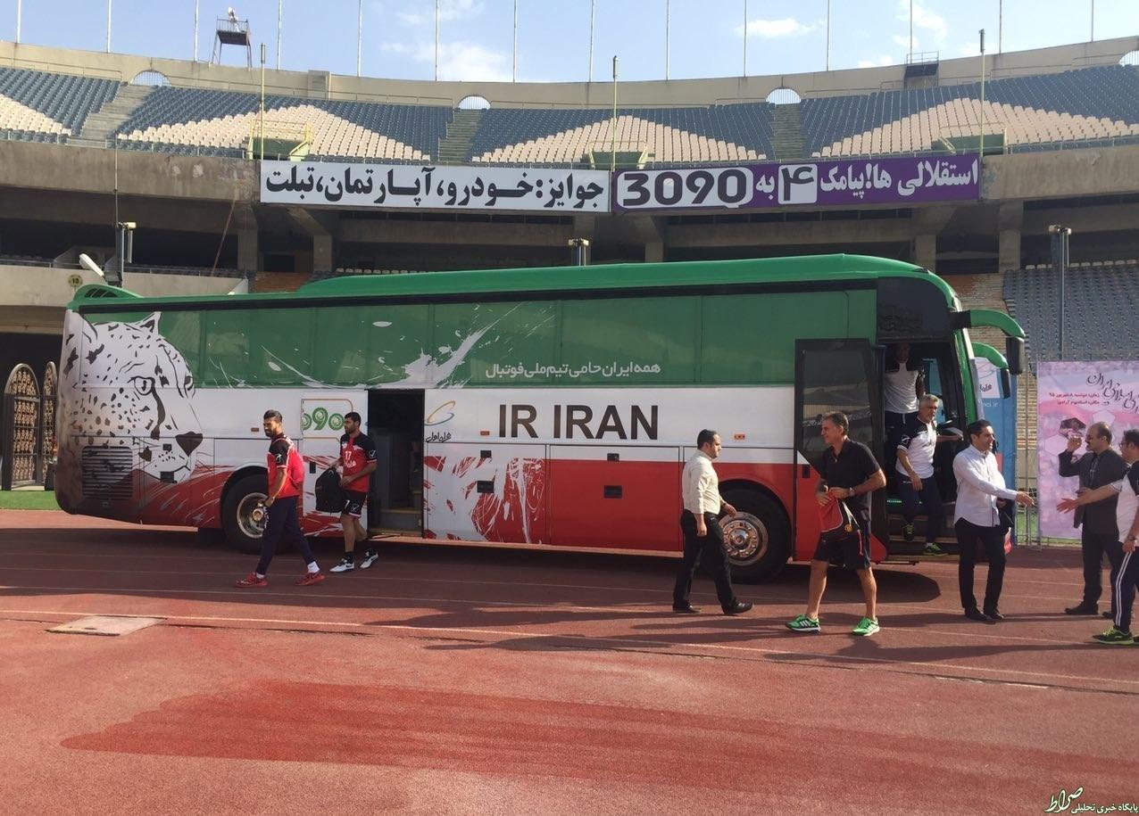 از اتوبوس تیم ملی رونمایی شد + تصاویر