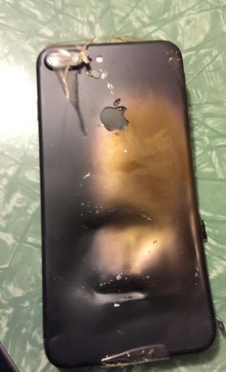 آیفون ۷ هم منفجر شد +عکس