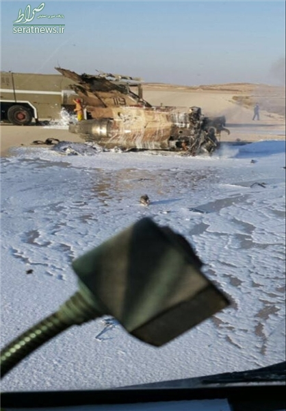 عکس/ جنگنده اسرائیلی که در آتش سوخت
