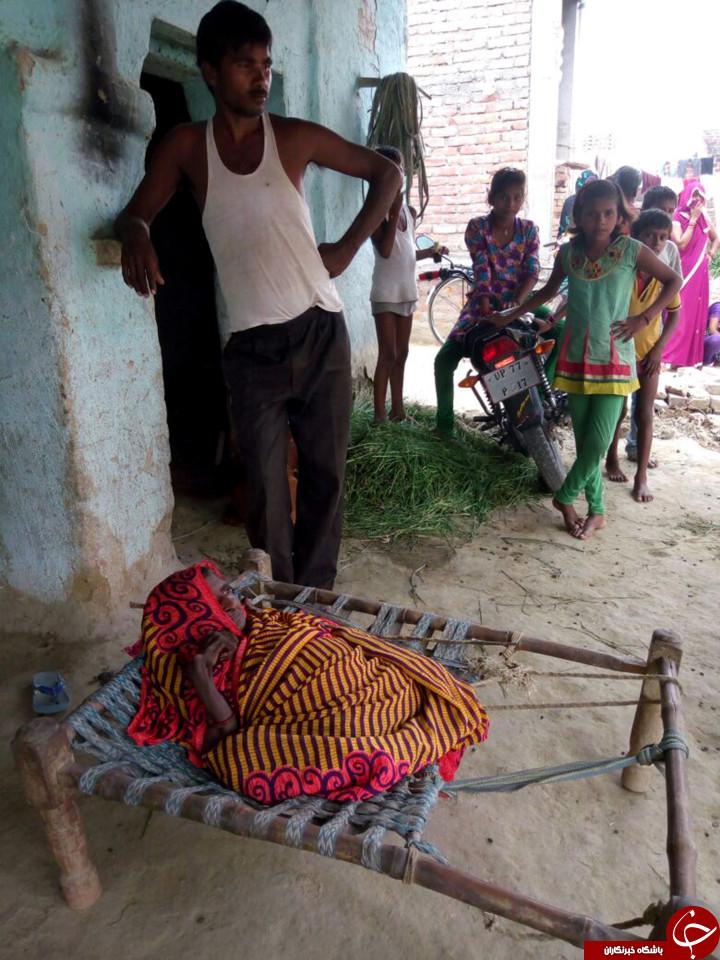 زنی که بعد ار تولد فرزندش آب رفت! +تصاویر