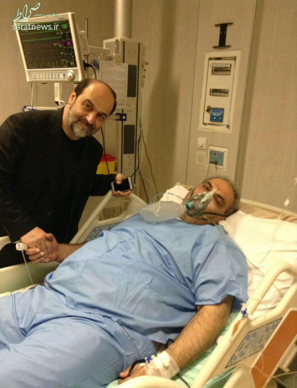 عکس/ جواد خیابانی روی تخت بیمارستان