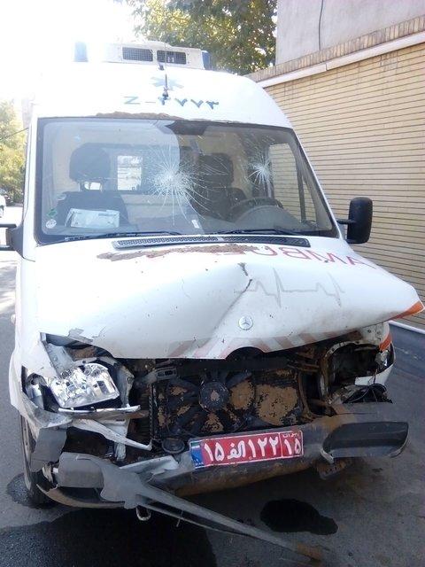 تصادف آمبولانس اورژانس در حین مأموریت+عکس