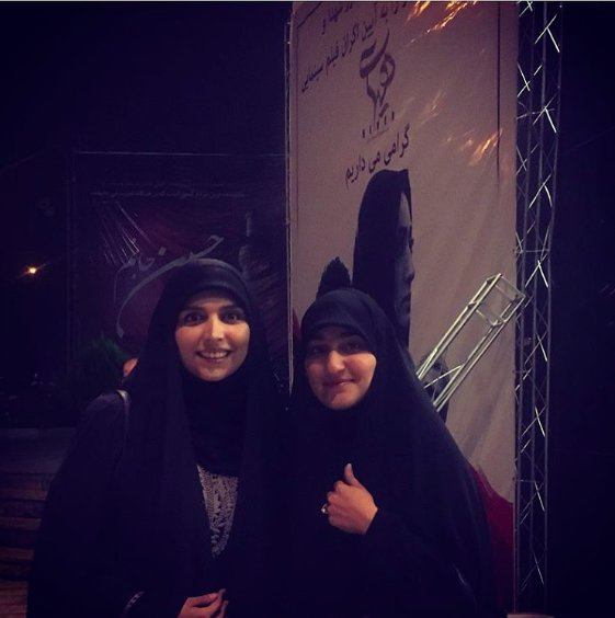 مژده لواسانی در کنار دختر سردار سلیمانی+عکس