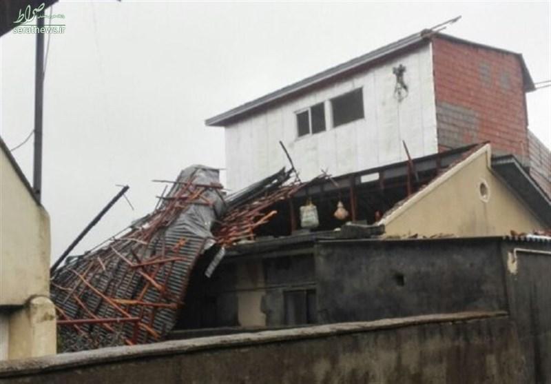 خسارت باد و باران به ۵ روستا آمل +تصاویر