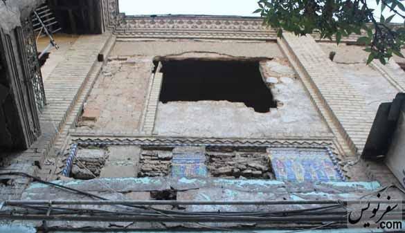 سرقت کاشیهای سرای قاجاری! +تصاویر