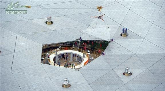 بزرگترین رادیو تلسکوپ جهان در چین +عکس