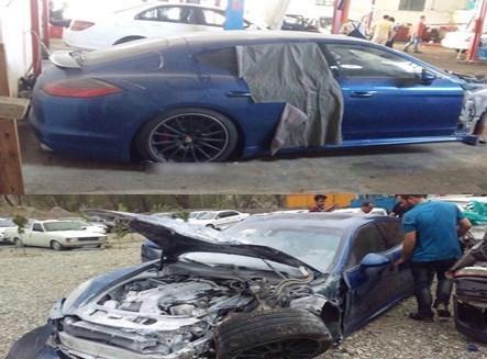 عکس/ تصادف شدید پورشه در تهران