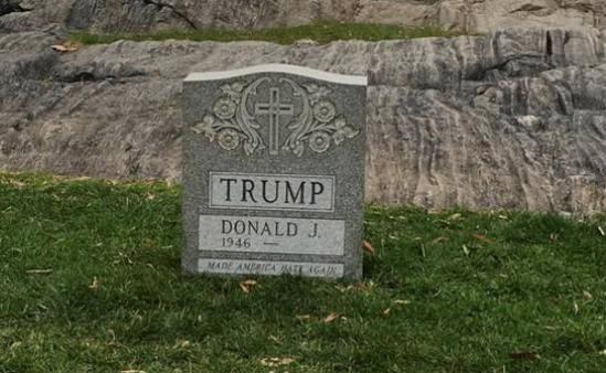 سنگ قبر ترامپ هم آماده شد +تصاویر