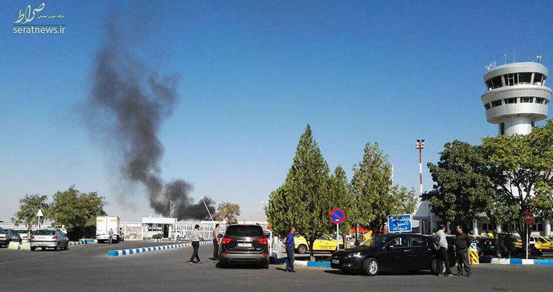 شایعه آتشسوزی در فرودگاه تبریز +عکس