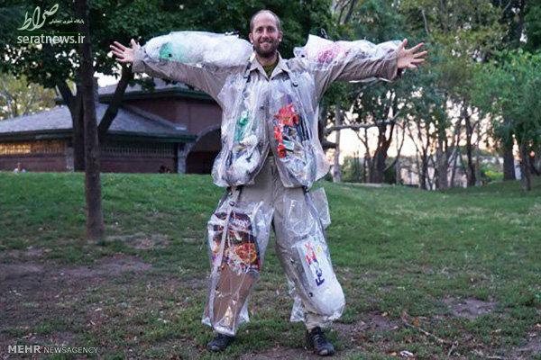 لباسی که از آشغال ساخته شده است+عکس