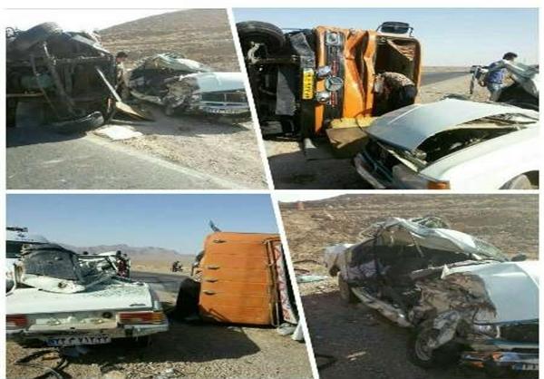 جزئیات دو تصادف رانندگی  با 5 کشته+تصاویر
