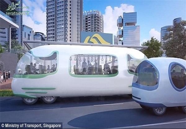 اولین اتوبوسهای خودران سنگاپور +تصاویر
