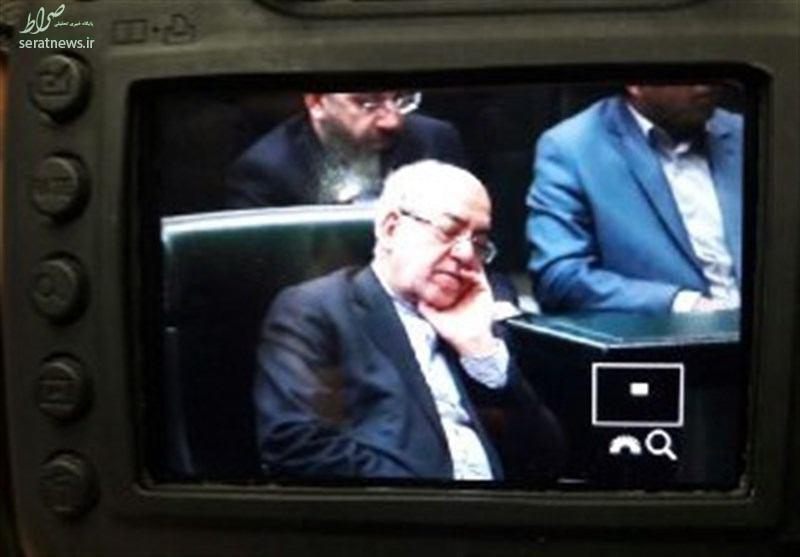 عکس/ نعمتزاده در مجلس خوابش برد!