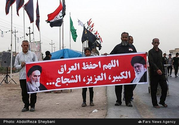 عکس/ دعا برای عراق با عکس امام و رهبری