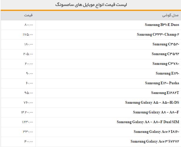 قیمت انواع گوشی اپل با تصویر
