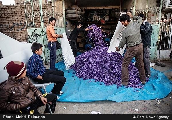 نگهداری زعفران در پنچرگیری! +عکس
